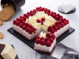 Cheese cake cioccolato lamponi