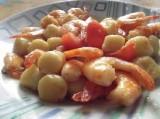 Gnocchetti arancia e gamberetti