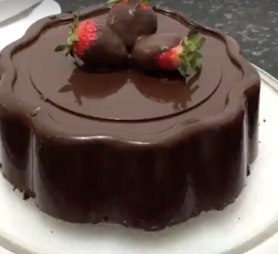 Torta croccante con cuore morbido
